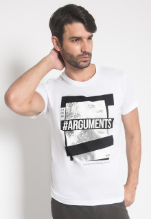 Slim FIt - Kaos - LGS - Putih - Arguments