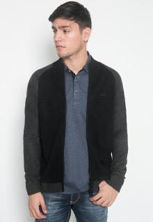 Sweater Casual - LGS - Warna Hitam/Abu