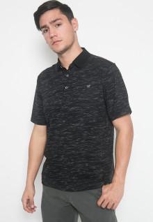 Regular Fit - Kaos Polo - LGS - Warna Hitam - Motif