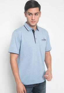 Regular Fit - Kaos Polo - LGS - Warna Biru - Motif Polos
