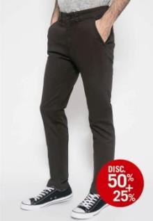 Celana Chinos - Celana Panjang - Polos - Coklat Tua