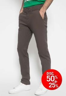 Celana Chinos - Celana Panjang - Polos - Warna Coklat Tua