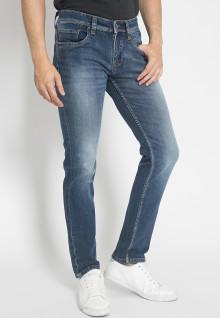 Jeans Premium - Biru - Aksen Full Washed - Blue