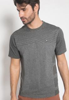 Regular Fit - Kaos Casual - LGS - Warna Abu - Motif Jaring