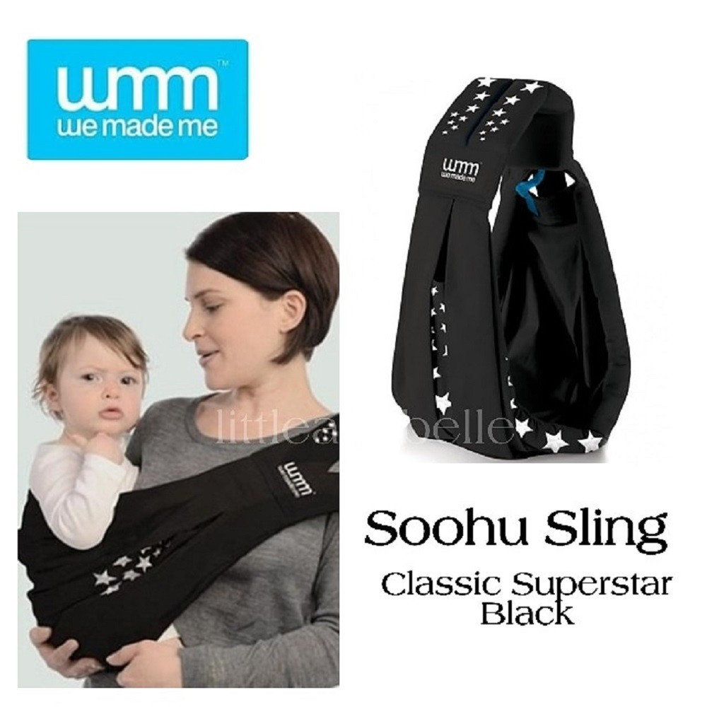 We Made Me Soohu Sling Classic Baby Carrier Superstar Black
