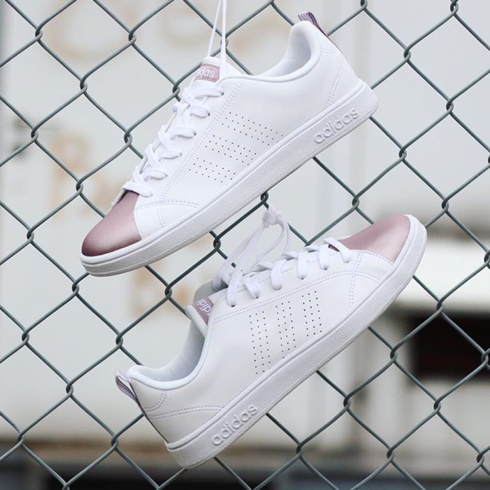 adidas neo blanche rose