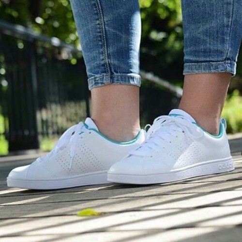 new style c32f0 5e40f Adidas neo advantage clean sneakers (mint stripes)