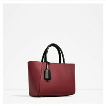 Zara tote bag with zipper closure