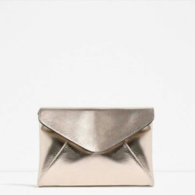 Zara metallic clutch bag