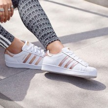 Adidas Superstar White With Rose Gold