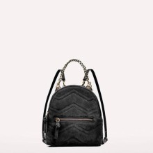 Zara leather backpack with wolves detail