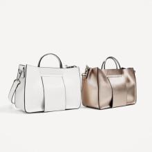 Zara Mini Tote Bag with Metallic Handles