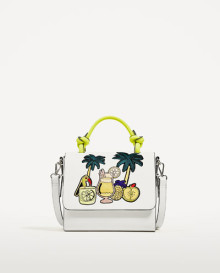 Zara embroidered tropical city bag