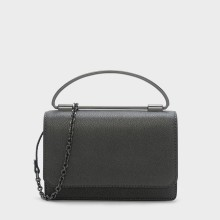 C K top handle metal mini handbag
