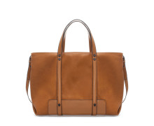 Zara leather basic shopper