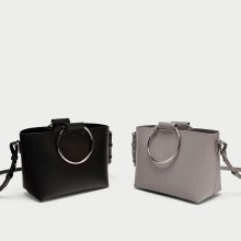 Zara mini tote bag with metal handles handbag