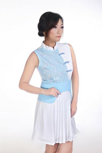 Magnificent Blue Qipao Dewasa