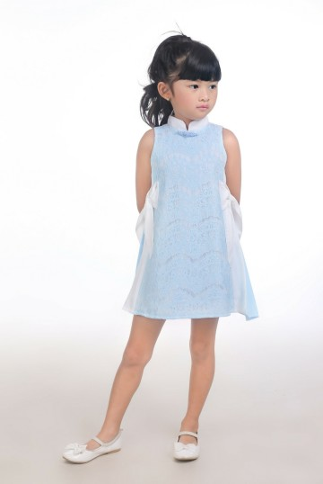 Magnificent Blue Qipao