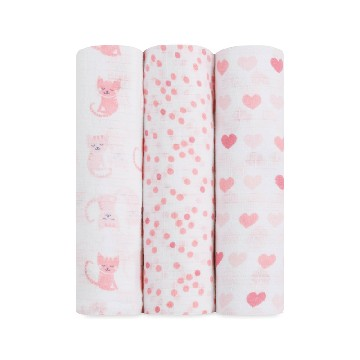 Ideal Baby Swaddle - Kitty Love