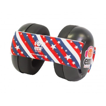 EMS Black Earmuff 4Bubs - Star Stripes