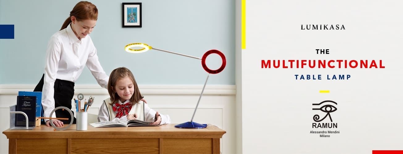 Ramun Amuleto, the Multifunctional Table Lamp