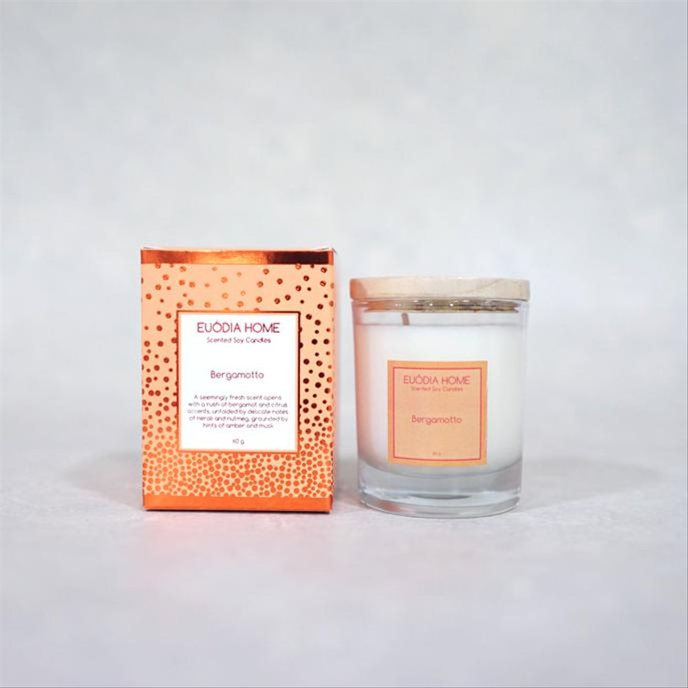 Euodia Home Bergamotto Soy Scented Candles