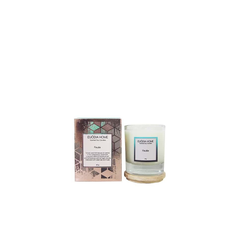 Euodia Home Feuille Travel Soy Scented Candle