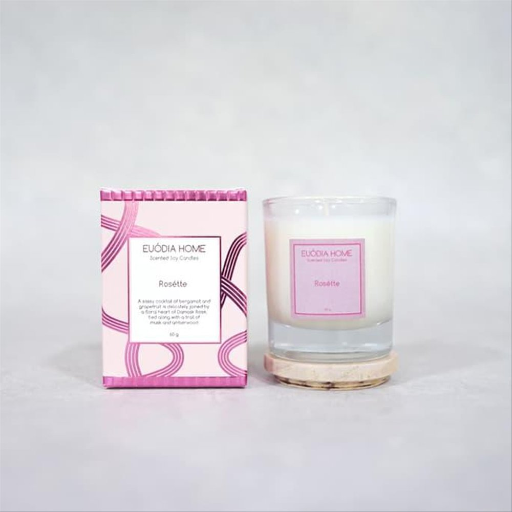 Euodia Home Rosette Soy Scented Candle