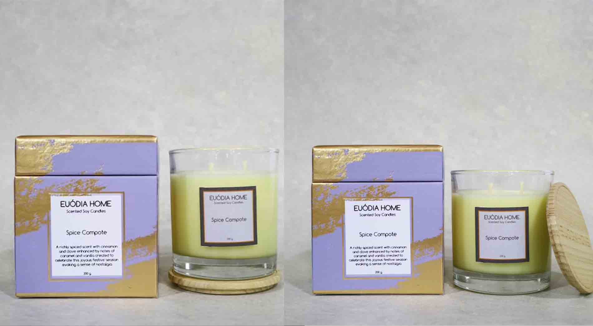 Euodia Home Spice Compote Soy Scented Candle