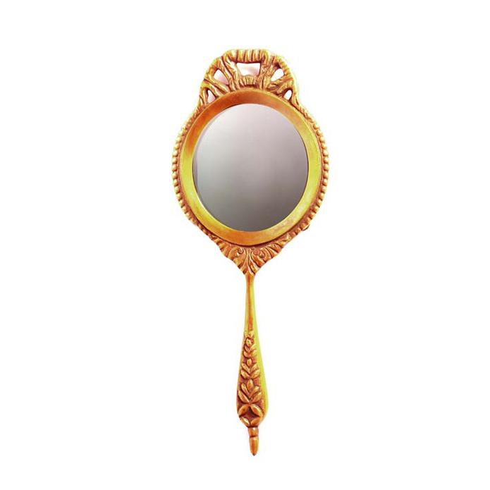 Hotelier Brass Hand Mirror