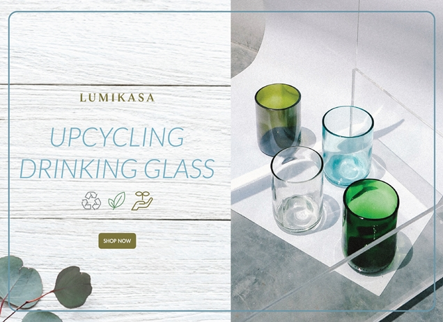 Upcycled Drinking Glass