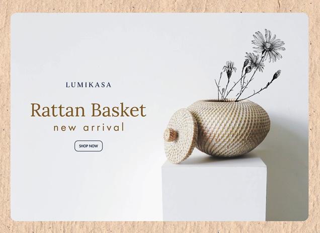 Rattan Basket New Arrival
