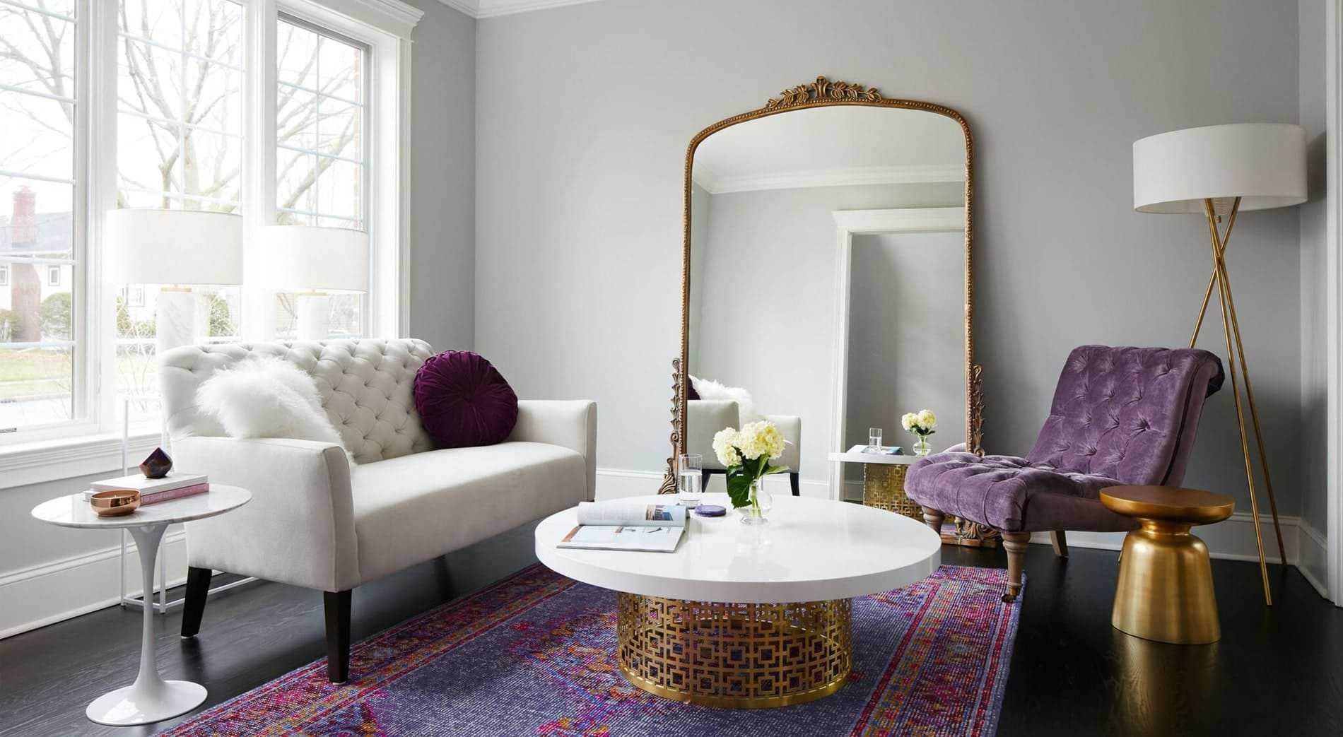dekorasi rumah warna ungu