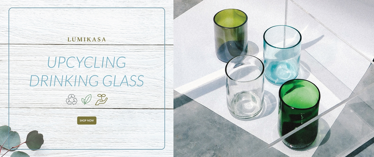 Upcycle Drinking Glass