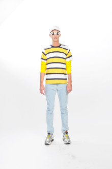 YELLOW STRIPES TEE