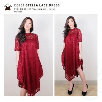 D6731 STELLA PASTEL LACE DRESS image