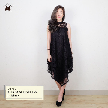 D6730 ALLYSA SLEEVELESS LACE DRESS image