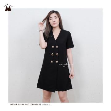 D8385 SUSAN BUTTON DRESS image