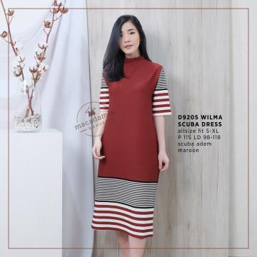 D9205 WILMA SCUBA DRESS image