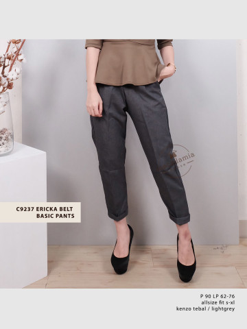 C9237 ERICKA BELT BASIC PANTS image