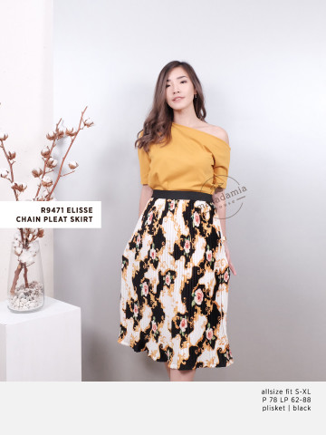 R9471 ELISSE CHAIN PLEAT SKIRT image