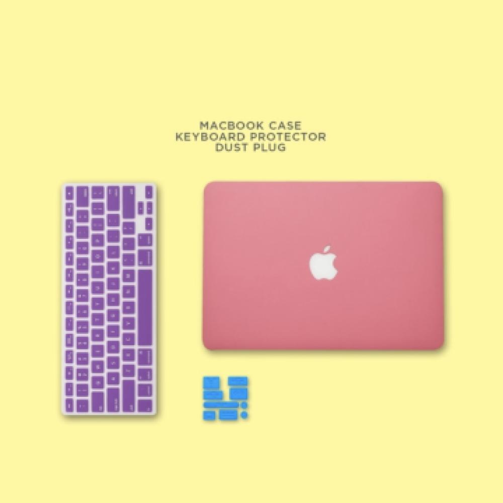 Bundling Promo Case Macbook Sand Keyboard Protector Dust Plug  Matte