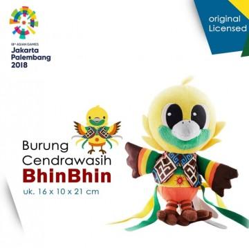 Boneka Maskot Asian Games 2018 BhinBhin KAWAI Besar image
