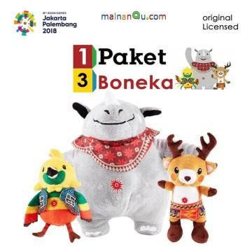 Boneka Maskot Asian Games 2018 1set 3pcs BESAR image
