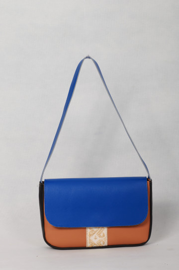 Carrie Bag Blue Brown