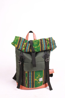 Fold Backpack Kale Green