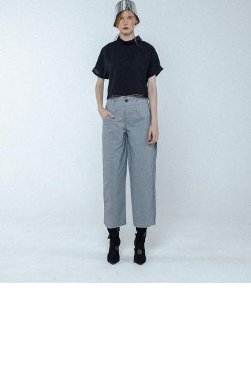 Grey Fleur Undone Wide Pants