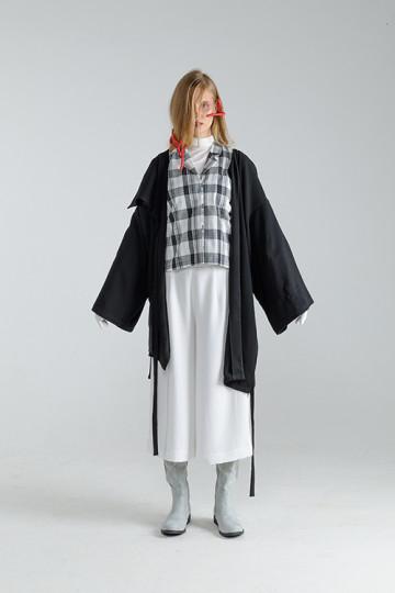 Black Amani Kimono Coat