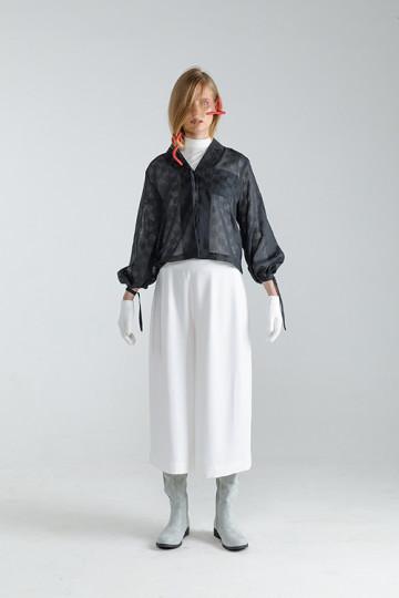 Black Tartan Nayma Rope Shirt