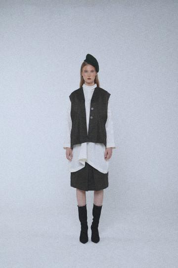 Dark Olive Hunter Basic Tuxedo Vest